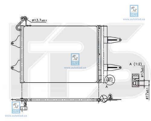 Радиатор кондиционера FPS 64K221
