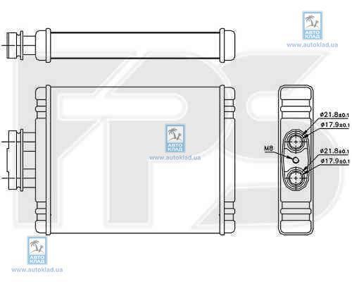 Радиатор отопителя салона FPS 74N175