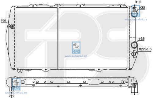 Радиатор охлаждения FPS 12A848