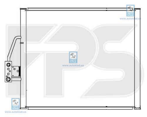 Радиатор кондиционера FPS 14K12