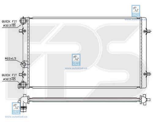 Радиатор охлаждения FPS 62A826X