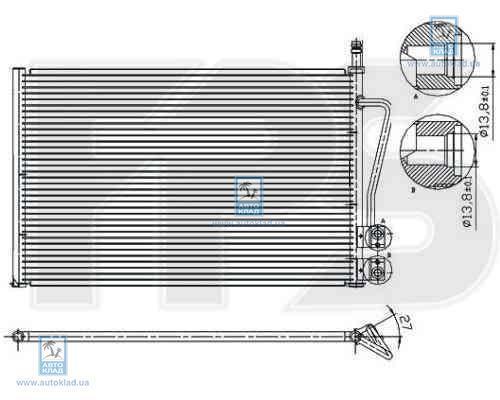 Радиатор кондиционера FPS 28K75