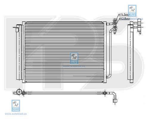 Радиатор кондиционера FPS 14K08
