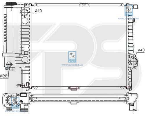 Радиатор охлаждения FPS 14A18P