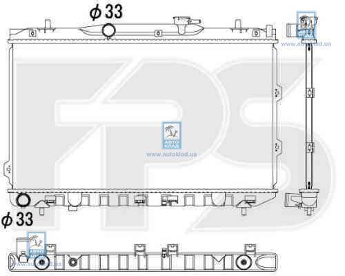 Радиатор охлаждения FPS 40A1104