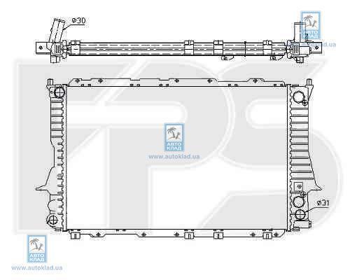 Радиатор охлаждения FPS 12A458