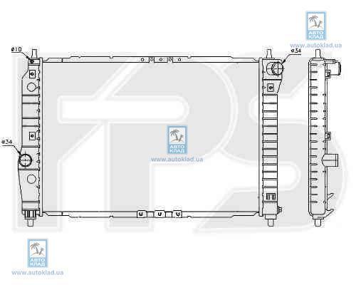 Радиатор охлаждения FPS 17A697P