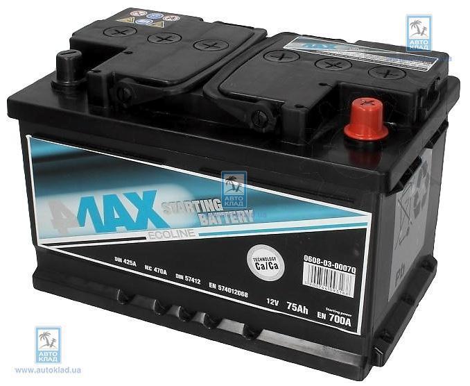 Аккумулятор 75Ач 700A Q-Line 4MAX 0608030007Q