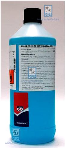 Жидкость омывателя зимняя концентрат -80°C 1л AD SCREENWASH801L