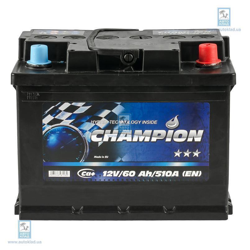 Аккумулятор 60Ач Black Euro AP CHAMPION CHB600