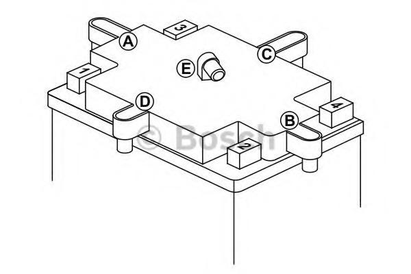 Аккумулятор гелевый AGM 3Ач BOSCH 0092M60010