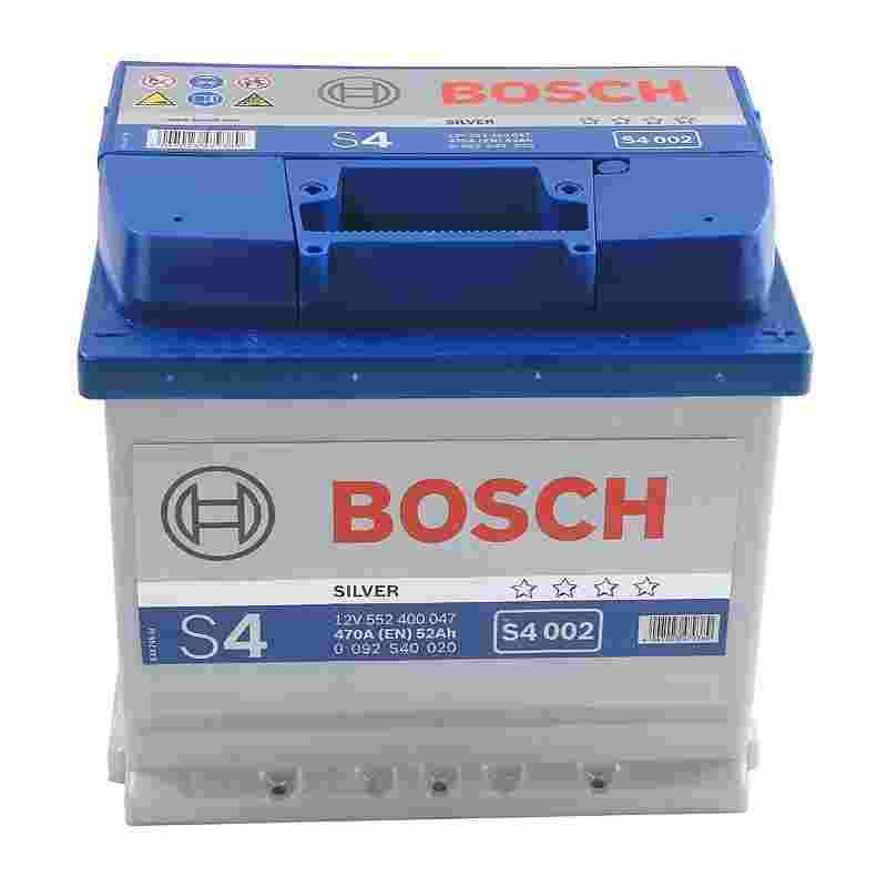 Аккумулятор S4 52Ач 470А BOSCH 0092S40020