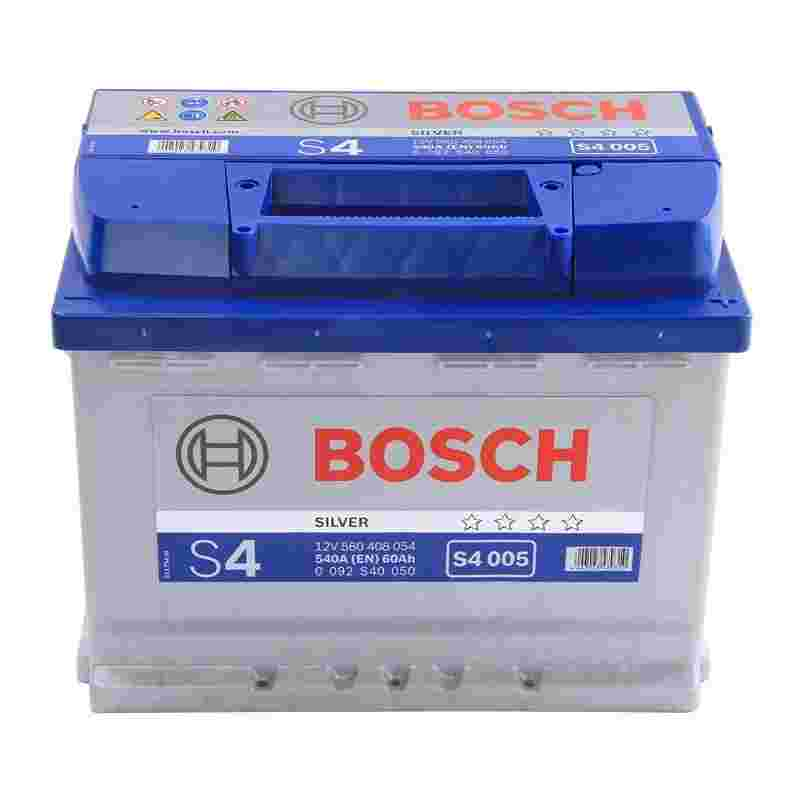 Аккумулятор S4 60Ач 540А BOSCH 0092S40050