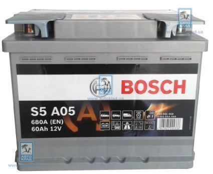 Аккумулятор гелевый AGM S5 60Ач 680А BOSCH 0092S5A050
