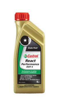 Тормозная жидкость DOT 4 React Performance 1л CASTROL CASREACTPERDOT4L1