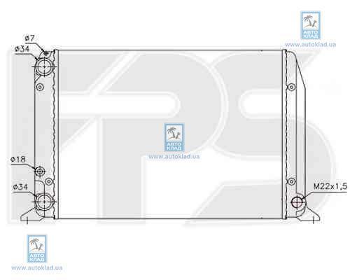 Радиатор охлаждения FPS 12A417P