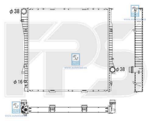 Радиатор охлаждения FPS 14A49X
