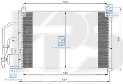 Радиатор кондиционера FPS 22K308P