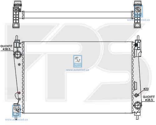 Радиатор охлаждения FPS 26A307X