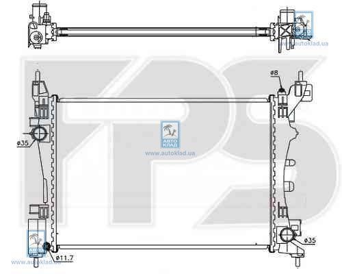 Радиатор охлаждения FPS 26A65X