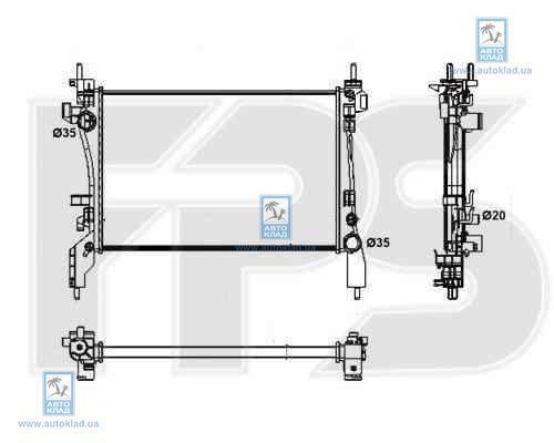 Радиатор охлаждения FPS 26A70X