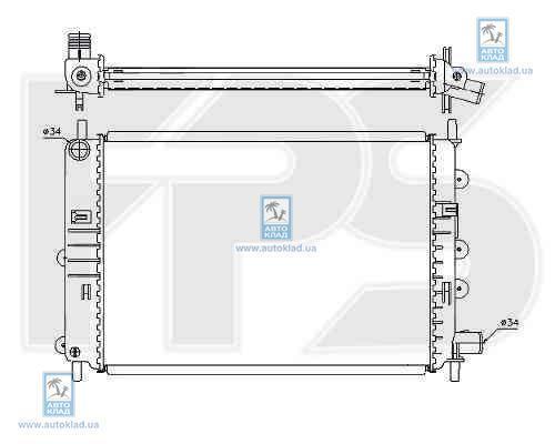 Радиатор охлаждения FPS 28A156