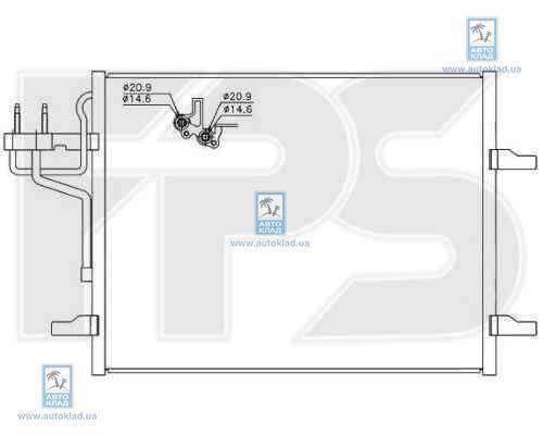 Радиатор кондиционера FPS 28K152X