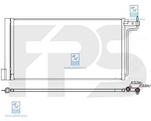 Конденсор кондиционера FPS 28K800X
