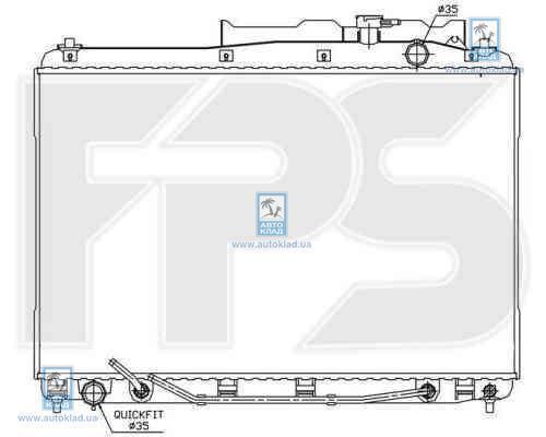 Радиатор охлаждения FPS 32A110X