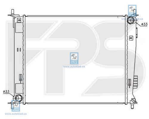 Радиатор охлаждения FPS 40A114X