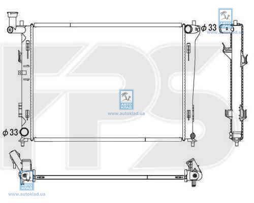 Радиатор охлаждения FPS 40A1437X