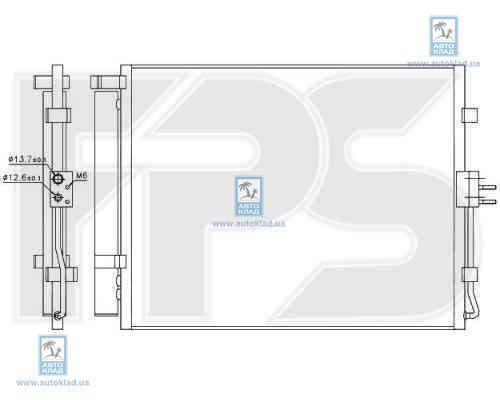 Радиатор кондиционера FPS 40K44X