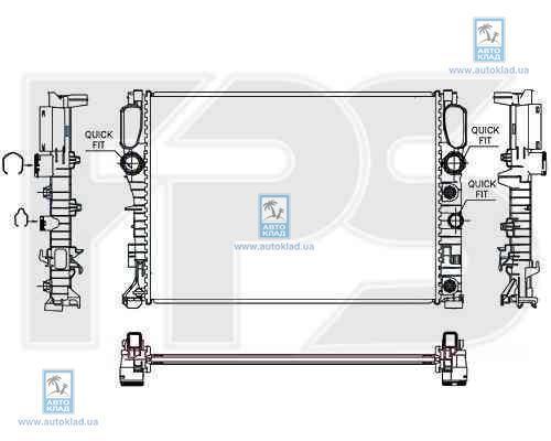 Радиатор охлаждения FPS 46A1020X