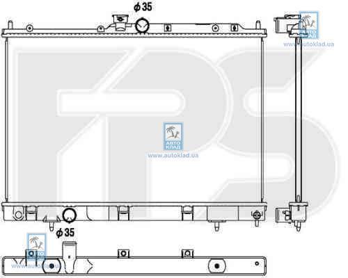 Радиатор охлаждения FPS 48A1367X