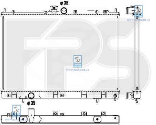 Радиатор охлаждения FPS 48A1368X