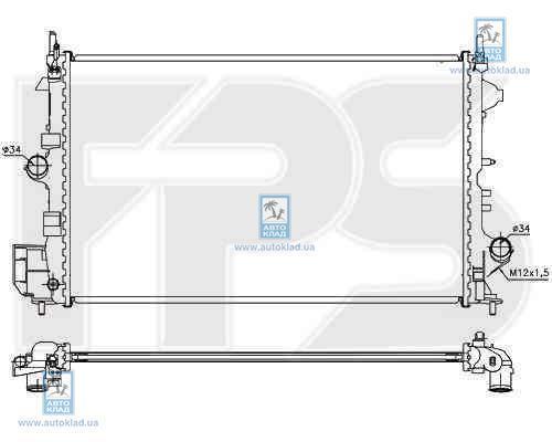 Радиатор охлаждения FPS 52A106X