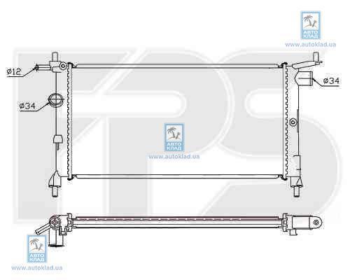 Радиатор охлаждения FPS 52A266