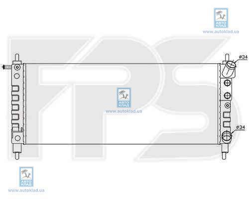 Радиатор охлаждения FPS 52A290