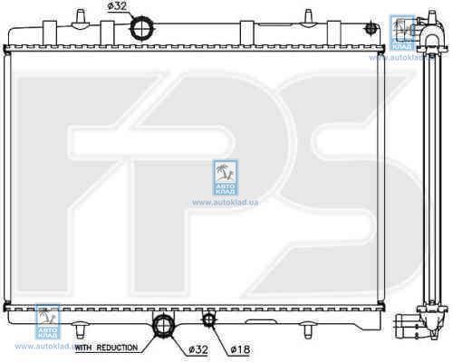 Радиатор охлаждения FPS 54A348