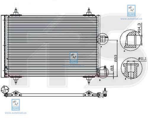 Радиатор кондиционера FPS 54K24