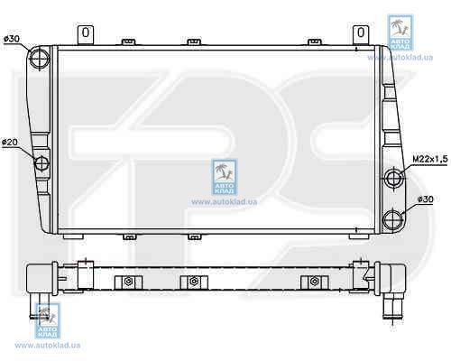 Радиатор охлаждения FPS 64A622