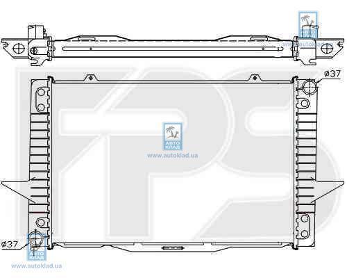 Радиатор охлаждения FPS 72A487X