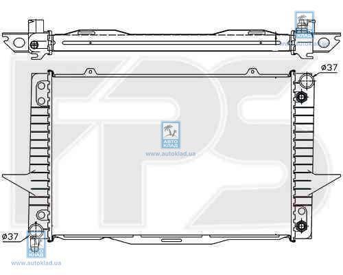 Радиатор охлаждения FPS 72A489X