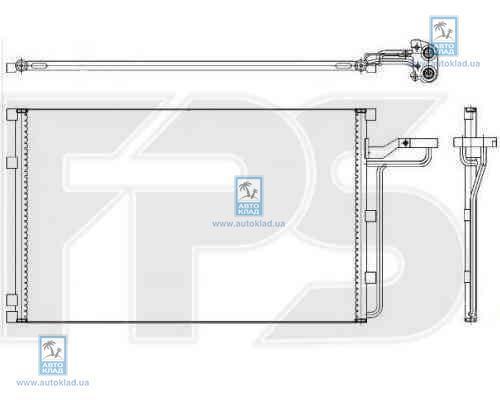 Радиатор кондиционера FPS 72K02