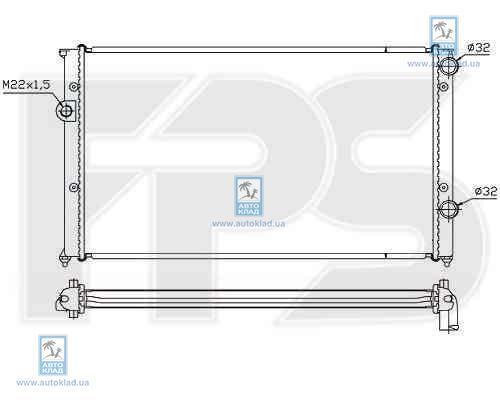 Радиатор охлаждения FPS 74A431