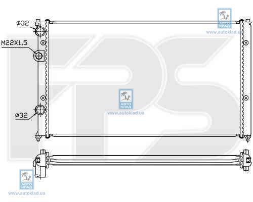 Радиатор охлаждения FPS 74A502X
