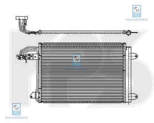 Радиатор кондиционера FPS 74K472