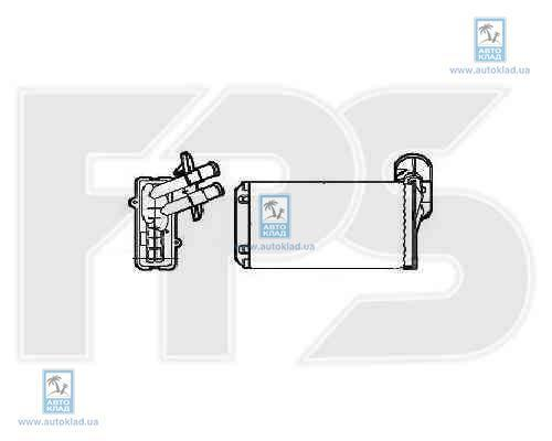 Радиатор отопителя салона FPS 74N92