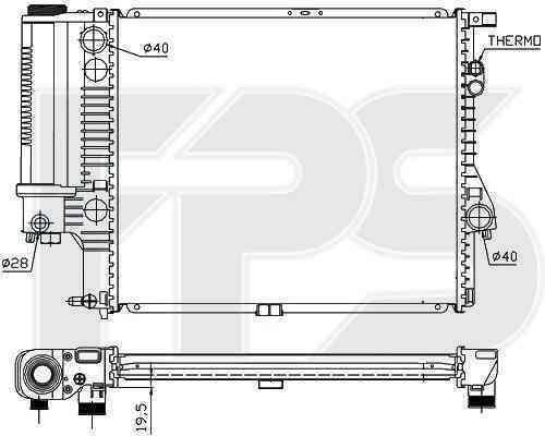 Радиатор охлаждения FPS 14A42P