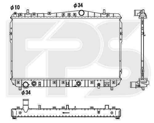 Радиатор охлаждения FPS 17A782P